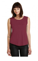 Alternative Cap Sleeve Satin Jersey Crew T-Shirt. AA4013
