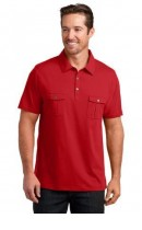DISCONTINUED District Made Mens Double Pocket Polo. DM333