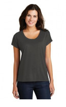 District Made Ladies Drapey Dolman Tee. DM412