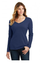 Port & Company Ladies Long Sleeve Fan Favorite V-Neck Tee. LPC450VLS