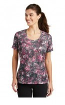 Sport-Tek Ladies Mineral Freeze Scoop Neck Tee. LST330