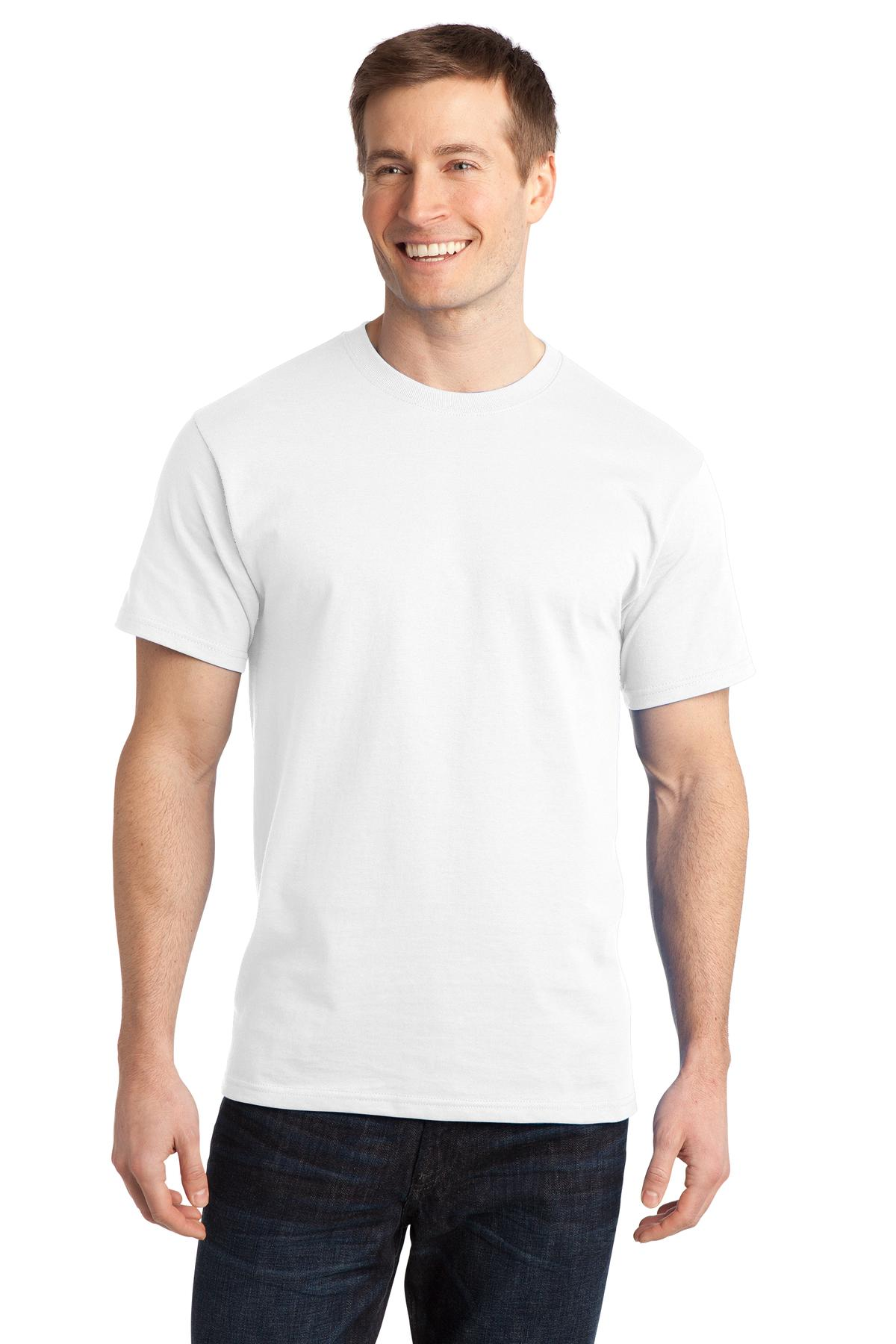 White t shirt company - Port Company Ring Spun Cotton Tee Pc150